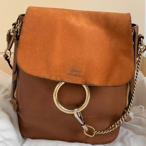 Authentic Chloe Calf Skin Medium Faye BackPack